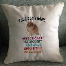 Embroidered Personalized Akc Dog Breed Traits Lover Throw Pillows (Breeds D-J)