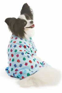LOOKIN GOOD DOG PET PAJAMAS BLUE WITH COLORFUL OWLS SIZES, XS, S, M, LARGE NWT