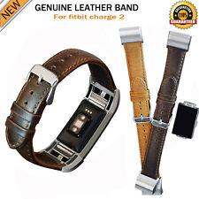 Echt Leder-Schnalle Armbanduhr Band Armband Pferde Gürtel für Fitbit Charge 2