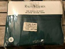Ralph Lauren  King Flat Sheet Hunters Green 200 thread NEW