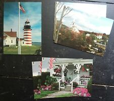 Scenes of New England USA Folding 5 Notecards in 3 Designs Lighthouse Church