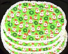 "New listing Fun 4pc Set of Christmas Santa Cloth Placements 12"" x 18"""