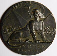 Karl Goetz The Awakening of Egypt 1915 cast iron medal XF R!