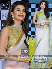 Bollywood Designer Party Wear Bridal White color Net Fabric  Saree