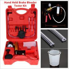 Hand Held Brake Bleeder Kit Vacuum Pump Tester Set Gauge for Car with Adapters
