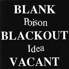 Poison idea blank blackout vacant cd sealed Misfits Negative Approach BLACK FLAG