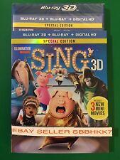 Sing - Special Edition Blu-ray 3D + Blu-ray + Digital HD & Slipcover New Free Sh