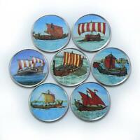 Somalia set of 7 coins Antique ships colorized souvenir set 2017
