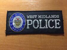 UNITED KINGDOM GREAT BRITAIN PATCH POLICE WEST MIDLANDS - ORIGINAL!