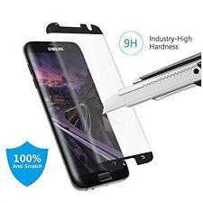 100PCS Black Samsung Galaxy S7 edge Tempered Glass Screen Protector Anti-Scratch