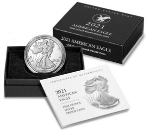 2021 W American Eagle One Ounce Silver Proof Coin Type 2 In Hand Ready to Ship