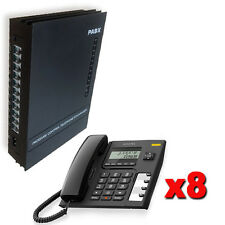 Centralino telefonico analogico 3 linee 8 interni + 8 telefoni Alcatel display