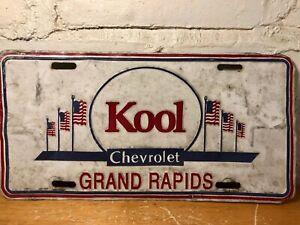 Vintage Kool Chevrolet Embossed License Plate