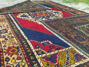 Stunning Antique 1900-1939s  Wool Pile Natural Color Avshar Area Rug 6x9ft