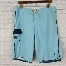 Billabong Recycler Series Mens Sz 34 Board Surf Swim Shorts Blue