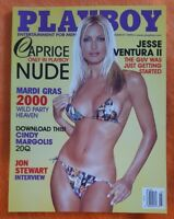 PLAYBOY MEN'S MAGAZINE MARCH 2000 NICOLE LENZ JOHN STEWART INTERVIEW CAPRICE
