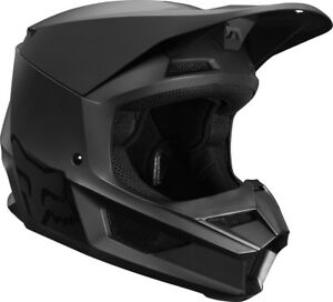 Fox Racing V1 MATTE BLACK Youth Helmet MX Motocross Dirt Bike Off-Road ATV MTB