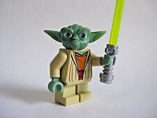Lego YODA Minifigure With Lightsaber Star Wars 8018 7964 -Gray Hair-