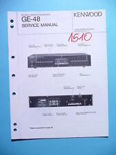 Instrucciones Manual de servicio para Kenwood ge-48, original