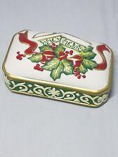 Fitz & Floyd Christmas Bell Trinket Box Candy Dish
