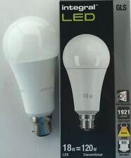 INTEGRAL 18W BC B22 1921lm WARM WHITE  NONE DIM = 120 WATT LED BULB LAMP BRIGHT
