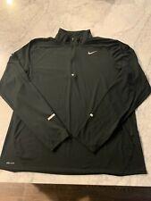 Nike Running Men'S Element 1/2 Zip Long Sleeve Shirt Black Size Xl