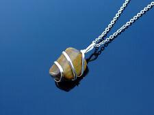 Ojo De Tigre envuelto Collar Colgante de piedras preciosas naturales 50cm Piedra de Curación