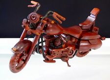 Harley Davidson Wooden Motorcycle Display Model Road King Bike