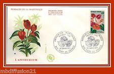 1973//FDC 1°JOUR*L'ANTHURIUM-MARTINIQUE-OBL.972.FORT DE FRANCE*TIMBRE Y/T.1738