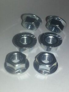 Honda VFR800fi 98 99 2000 01 02 stainless steel rear sprocket nuts x 6 ALL YEARS