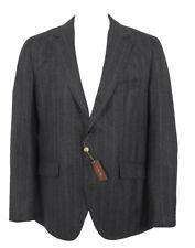 NEW $4395 Loro Piana Cashmere Sportcoat Jacket! US 42 e 52  Gray Stripe  Heavier