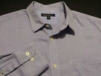 Banana Republic Mens Large Long Sleeve Button-Front Purple Plaid Check Shirt