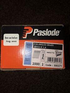 Paslode 300271 16g x 38mm ELGV Angled Brad Fuel Pack 2000 per box + 2 fuel cells