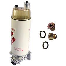 Diesel Fuel Filter Water Seperator Hand Primer Pump 3/8 NPT HANLV 30 Micron