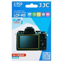 JJC 2pcs LCD Guard Film Screen Display Protector for Canon EOS M5 Camera