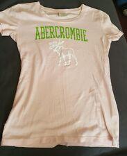 Abercrombie & Fitch NY Women's Pink Moose Logo Short Sleeve T-Shirt Size XS