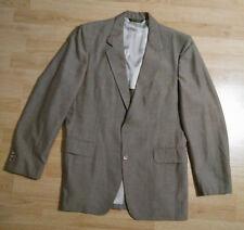 Curlee Mens 3 Pc Suit 2 Button Jacket Vest Pants Vintage Disco BrownishRedGrey