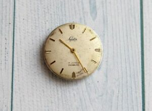 Lasita Movement and Dial from a Wristwatch for Repair or for Spare Parts 17 jewe