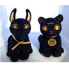 2 Egyptian Bastet & Anubis Stuffed Plush Dolls Combo Set.Cute Little Soft Cuddly