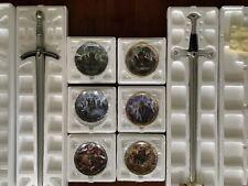 Lord of the Rings Collectors 6 Plate 2 Sword Bradford Exchange Coa Original Pack