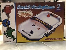 Crash Air Hockey Game 2 Table-top Electronic Portable Kids toy with blower