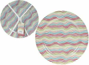 Summit Melamine Dinner Set Plastic Plates Camping Picnic Set of 4 24.5cm