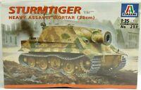 WWII Sturmtiger Heavy Assault Mortar 38cm Military Italeri Model Kit 1:35