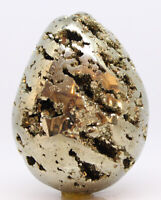 Pyrite Egg Unusual Angled Parallel Chambers Peru Crystal Mineral See Video L63