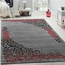 """Living Room Rug Floral Pattern Glitter Effect Soft Carpet Floor Mat Small Large Grey Charcoal 120x160cm (4'x5'3"""")"""
