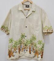 Royal Creations Mens Hawaiian Camp Shirt Size XL Cotton Button Down Short Sleeve