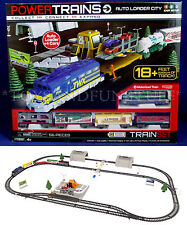 NEW Power Trains AUTO LOADER CITY Motorized Train Set - 5 CARS - Easy Set Up