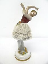Vintage Porcelain Dancing Girl Ballerina Ballet Dancer Figurine Figure N Crown