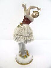 Vintage Porcelain Dancing Girl Ballerina Ballet Dancer Figurine Figure N Crown