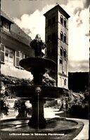 Hirsau Schwarzwald alte Ansichtskarte 1959 Partie am Pfarrbrunnen Glockenturm